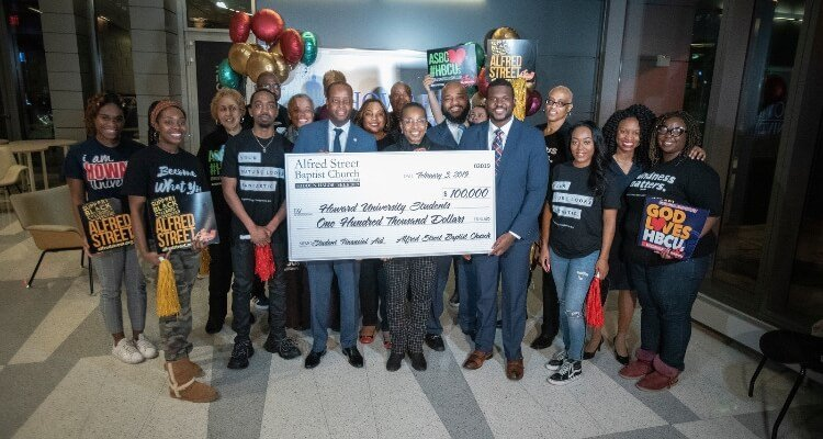 Alfred Street Baptist Church Awards Howard University $100K
